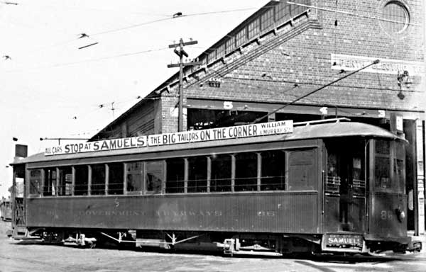 Perth Tram 86 Car Barn