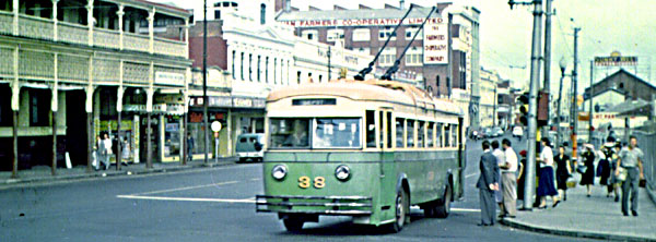 Perth Trolleybus 13 Wellington St
