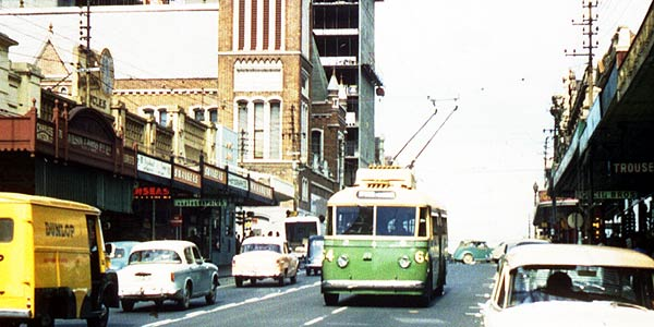 Perth Trolleybus 64 Barrack St