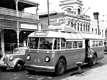 Perth Trolleybus 57 Wellington St